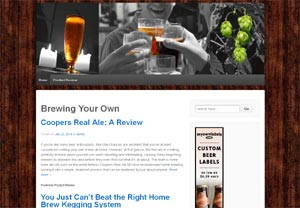 Brewing your own website