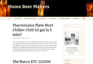 Affiliate website voor Home beer makers